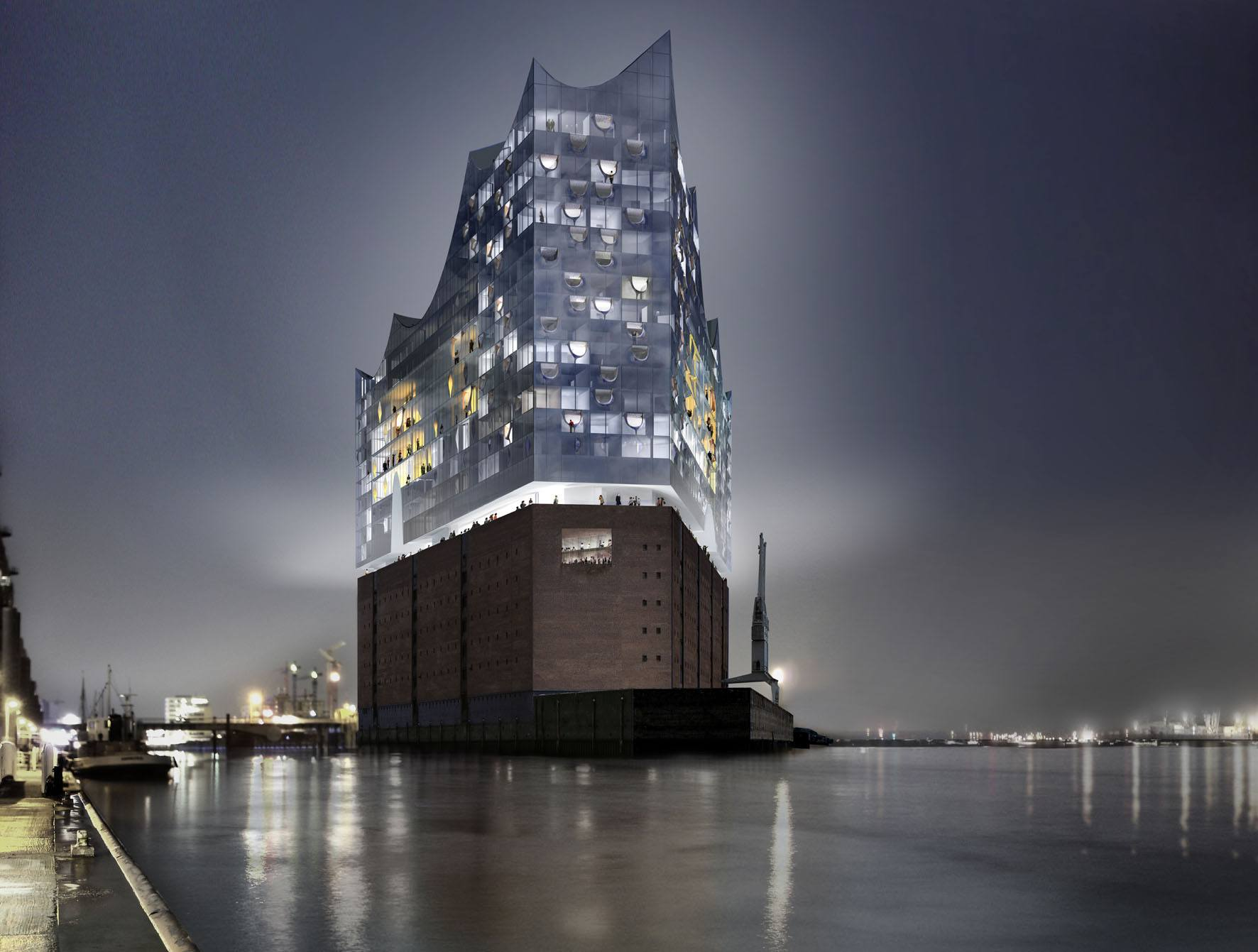 Elbphilharmonie at night