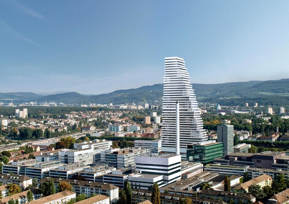 Roche-Tower Basel by Herzog & De Meuron