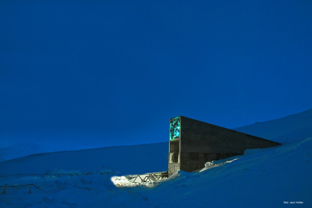 Global Seed Bank in Svalbard Norway, Photo: Jaro Hollan