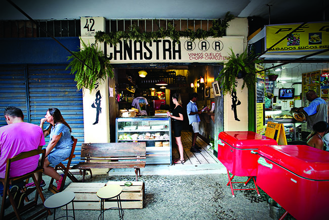 Canastra Bar, famous for its oyster on Tuesdays, in Ipanema, Rio de Janeiro.