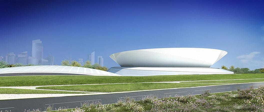 Doha Tennis Stadium – Elevation.