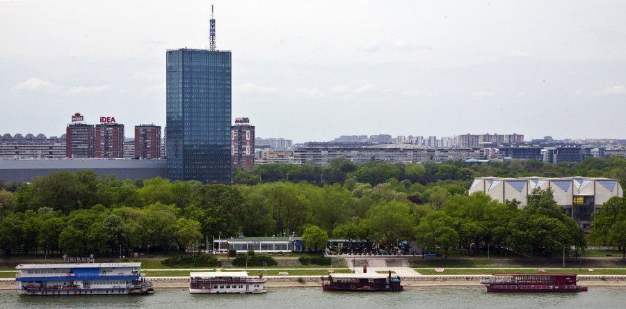 A panoramic view of new Belgrade. Copyright: Vojislava Lopicic.