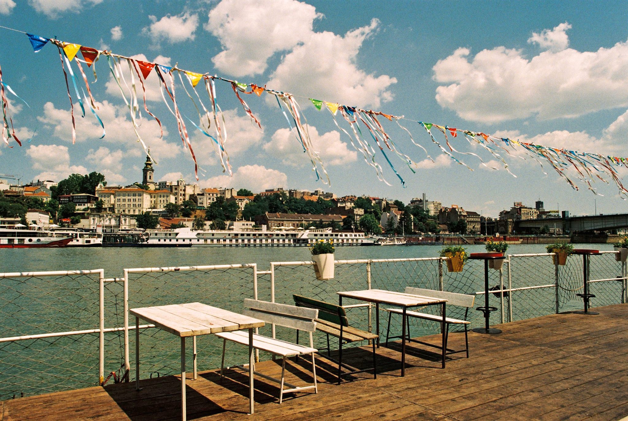 The historical city as seen from the Sava river.