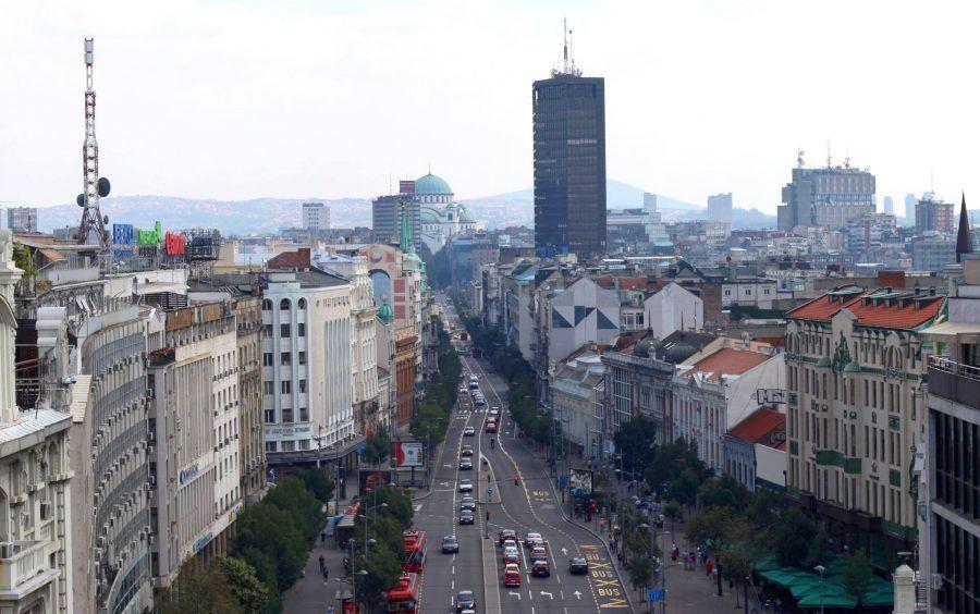 The wider central area of Belgrade.