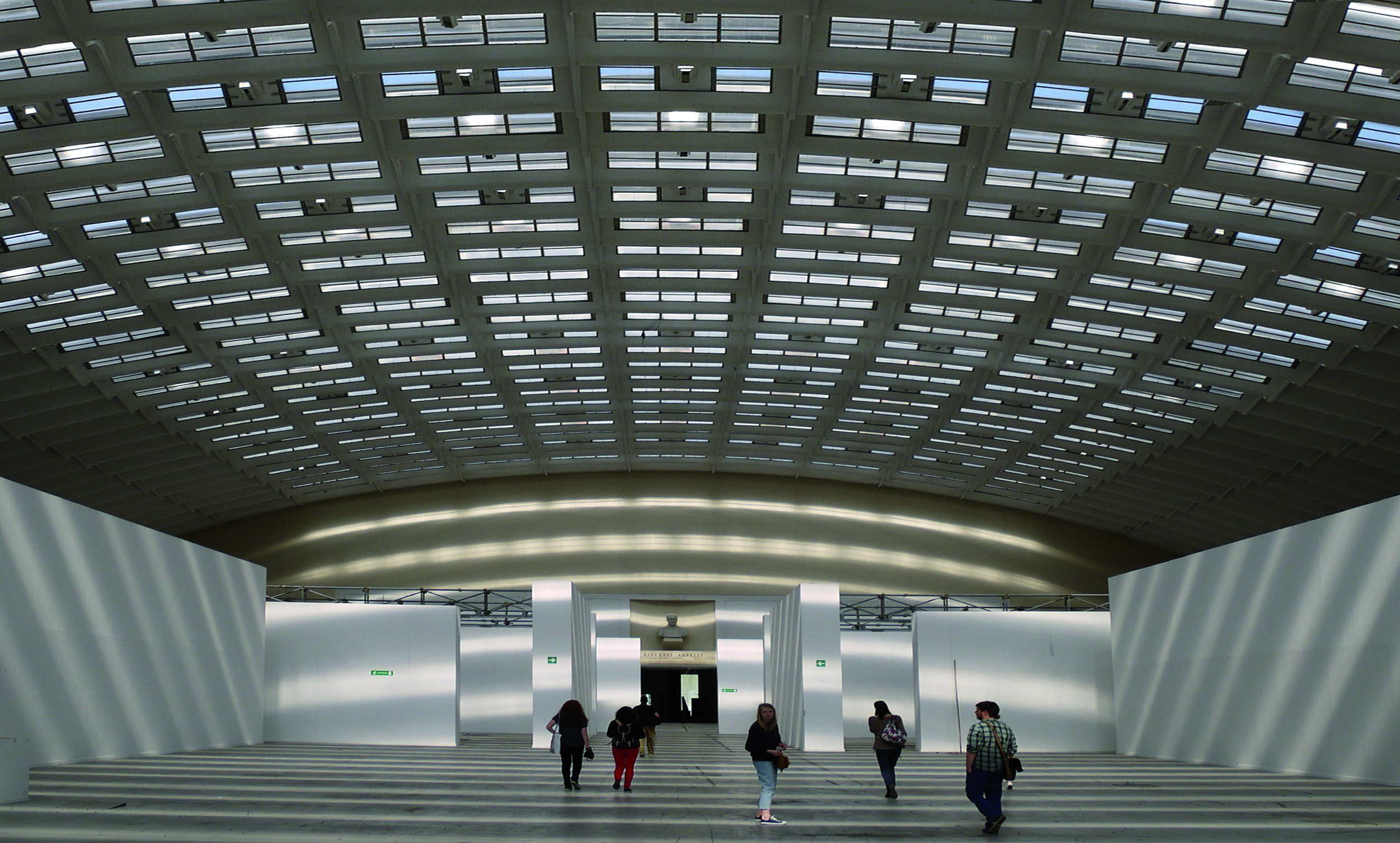 The building by Pier Luigi Nervi.