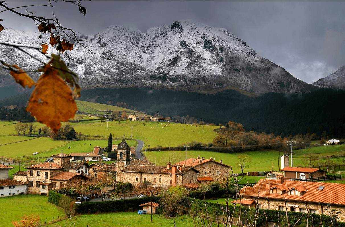 The village of Atxondo, home to the awarded restaurant.