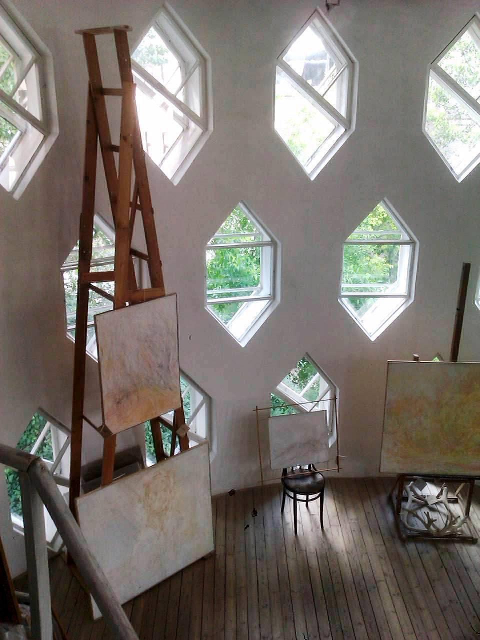 Melnikov's own studio.