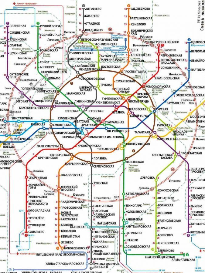 Moscow's metro map.
