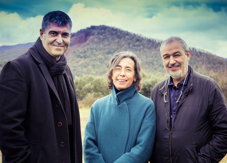 Rafael Aranda, Carme Pigem and Ramon Vilalta.