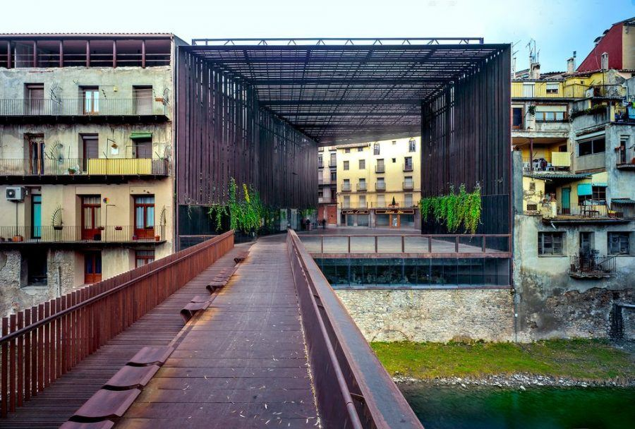 """La Lira Theater"", public open space, 2011, Ripoll, Girona, Spain, in collaboration with J. Puigcorbé."