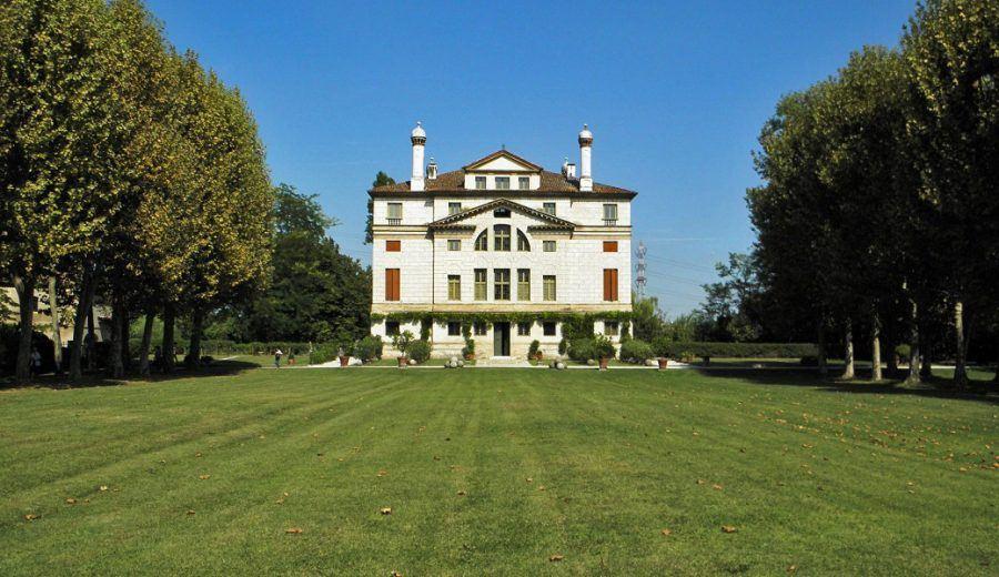 Villa Foscari in Italy: the southwest façade.