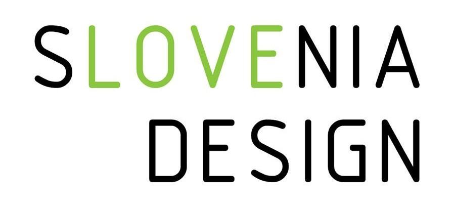 LOVE for the Slovenia Design. Logo of the Slovenia Design Showroom in Milano Design Week 2017. Copyright: All rights reserved for Slovenia Design.