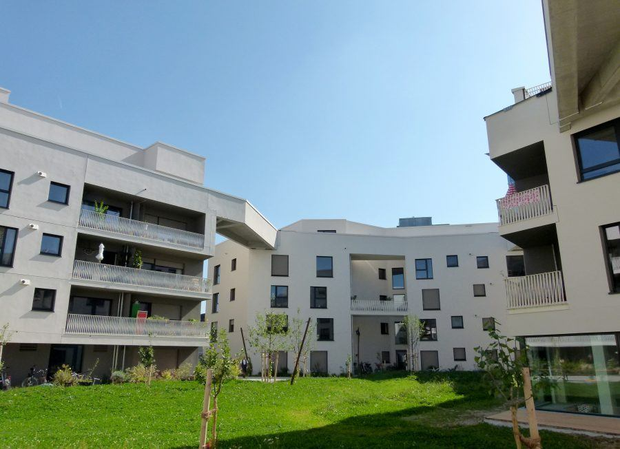 The WagnisART complex combines housing, working and leisure facilities. Copyright: Claudia Neeser.