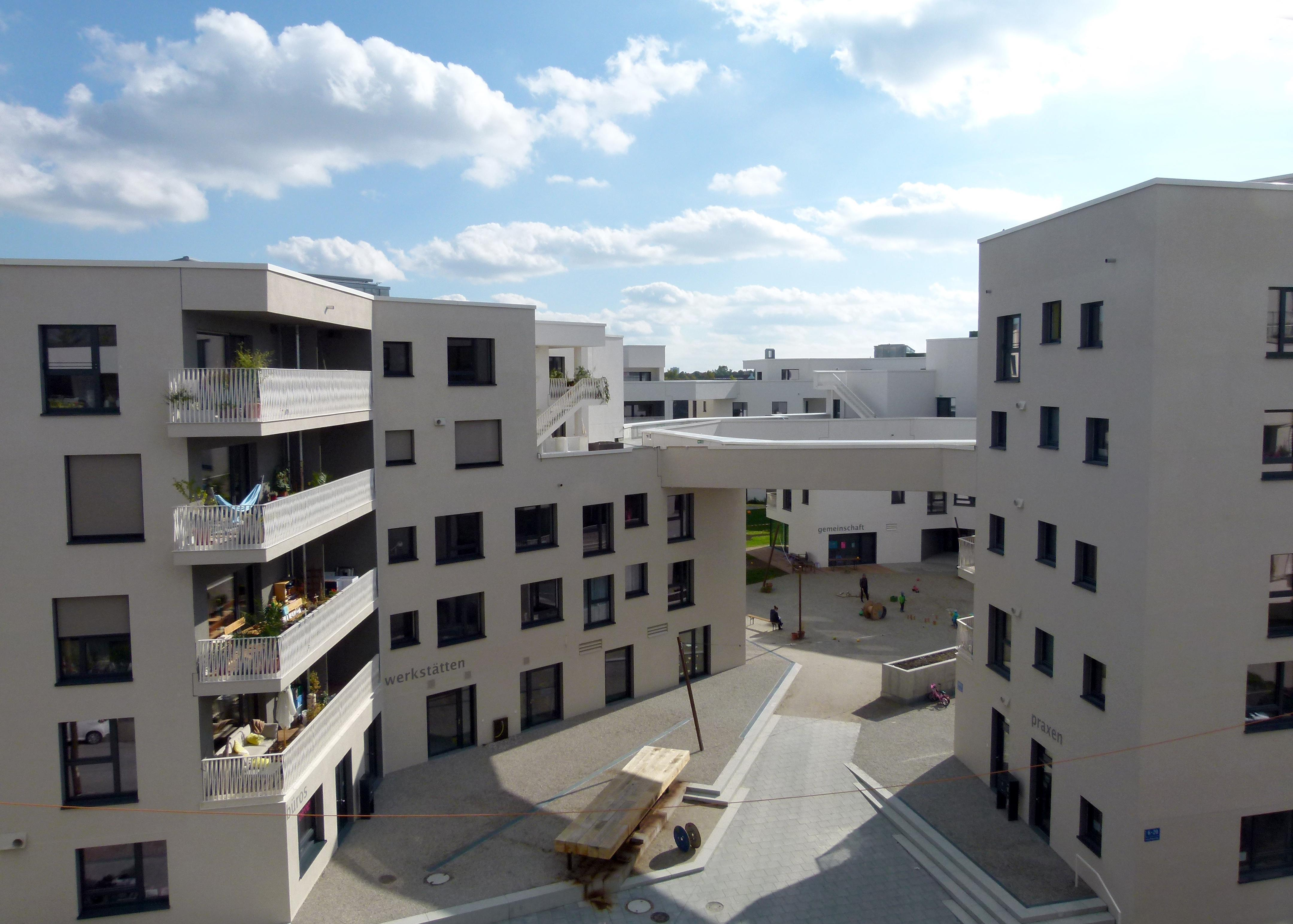 WagnisART complex is a recently award winning cooperative housing project in Munich. Copyright: Claudia Neeser.