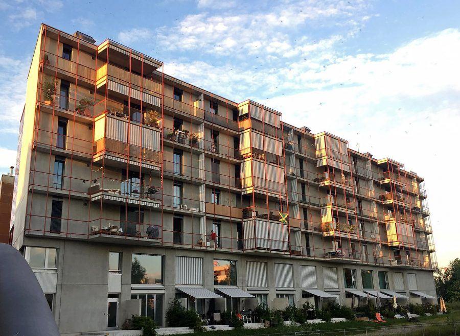 A general perspective on Schneider Studer Primas Architects' project in Zurich.