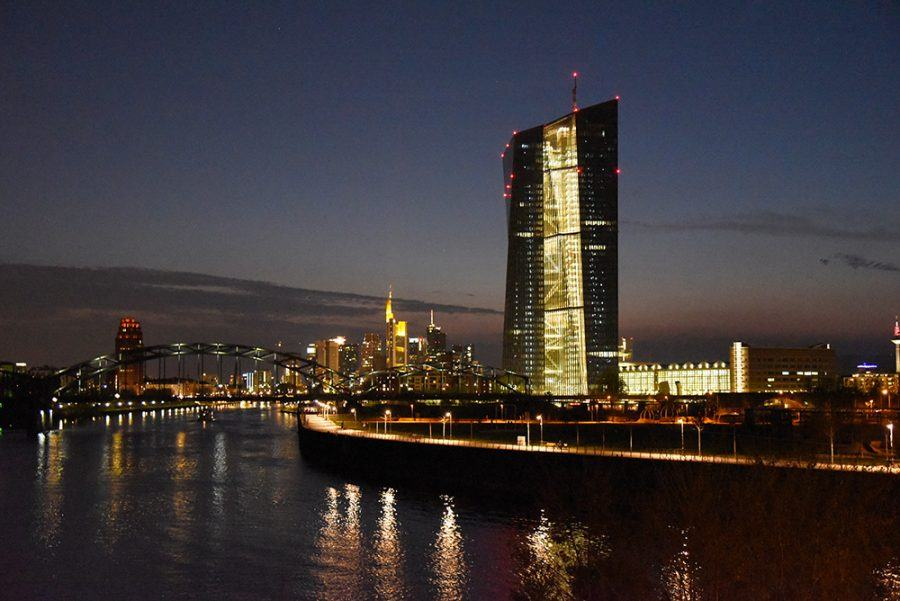 The new ECB premises in front of the Frankfurt skyline. Copyright: Andrea Schwappach for ga frankfurt.