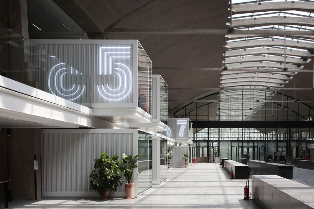 The result of Station F's renovation by Wilmotte & Associates. Copyright: Patrick Tourneboeuf.