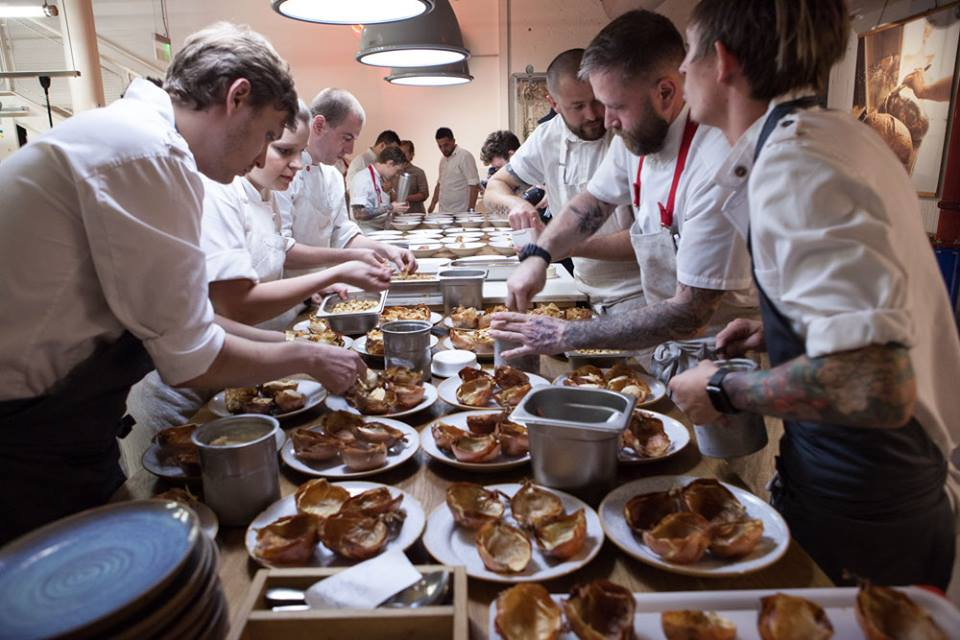 Some of the chefs working at Eska, a baker's restaurant in Prague. Copyright: Eska restaurant.