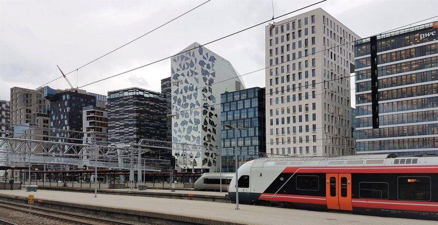 Urban Transformation in Oslo: Barcode. Copyright: Henning Nielsen.