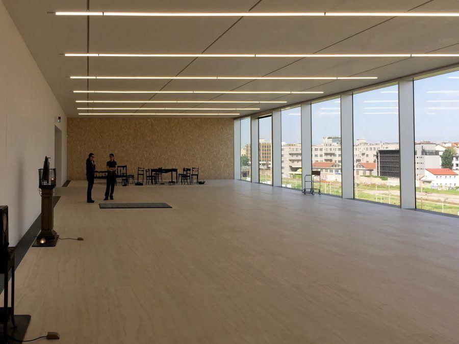 Inside space in Torre - Fondazione Prada by OMA. Copyright: Carlo Berizzi.