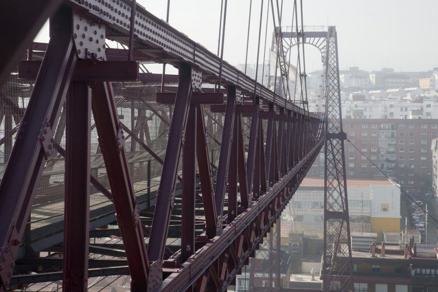Transporter Bridge – looking towards Portugalete. Copyright: Ayuntamiento de Getxo.