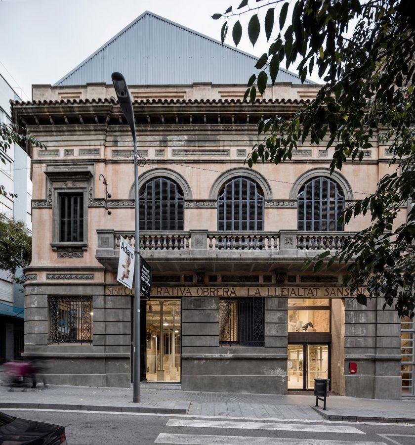 Lleialtat Santsenca by HARQUITECTES – Main façade of the restored building in Barcelona`s Sants neighborhood. Copyright: Adrià Goula.