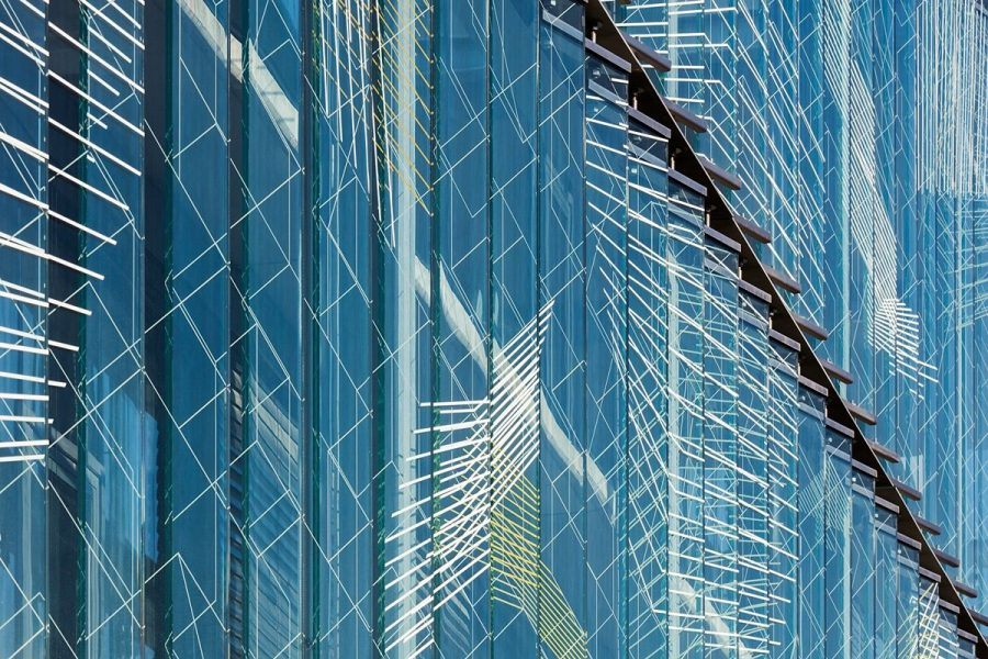 Graphisoft Park – detail of the glass facade