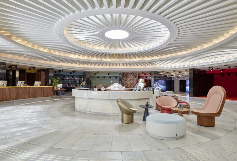 Particular Entrance of the 25hours Hotel The Circle