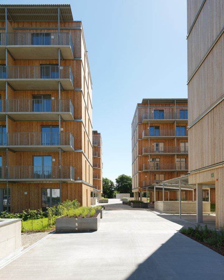 View of the New Social Housing Graz West Architect Speigner 2016