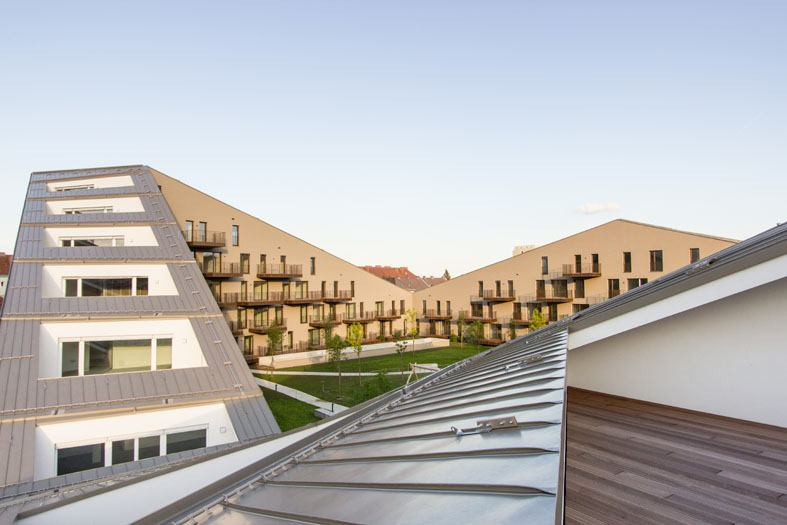 3D view of The Eggenberge New type of housing - Architects Pentaplan
