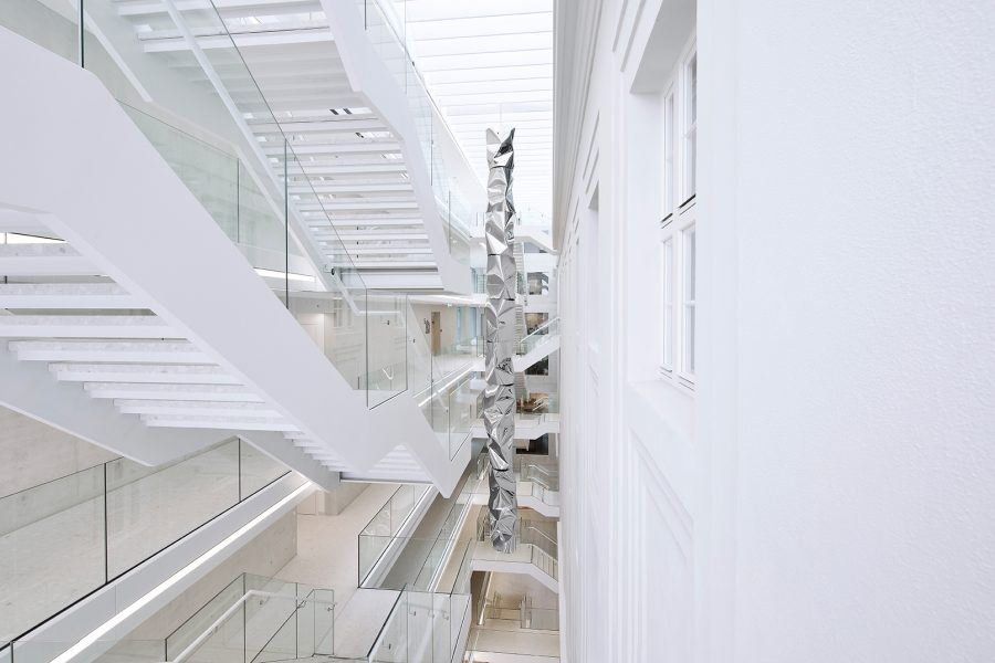 View of the New Post in Rochus Access Stairs - Guiding Architects
