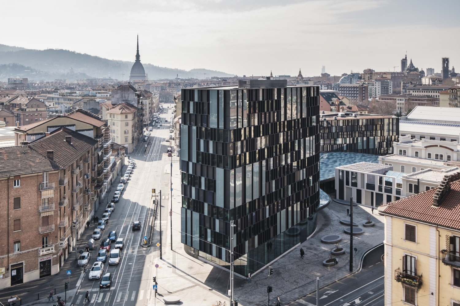 View of Lavazza headquarter at the Aurora district- Guiding Architects