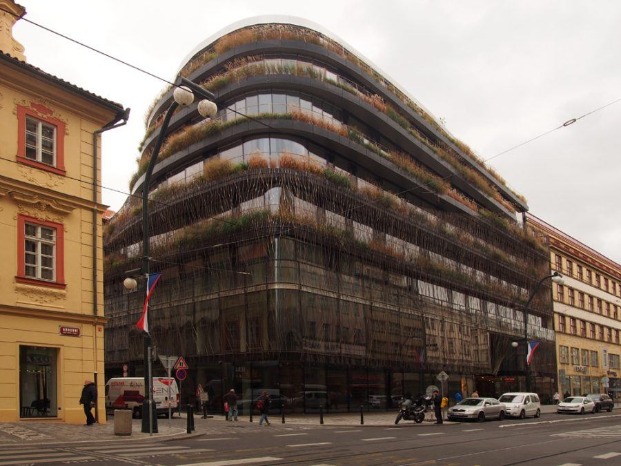 Façade of the Floral motifs dominate the design by Stanislav Fiala - Guiding Architects