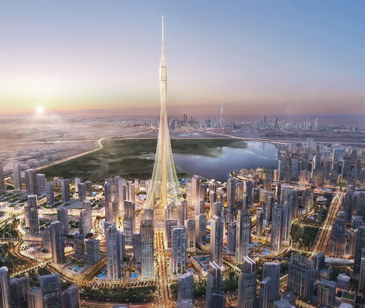 Visual of Dubai Creek Harbour with Creek Tower by Emaar - Guiding Architects