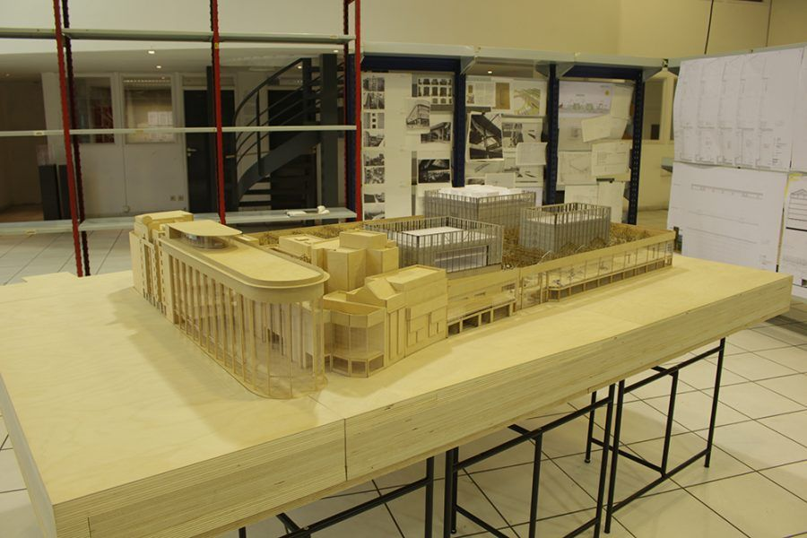 View of the new Centre Pompidou Model - Guiding Architects