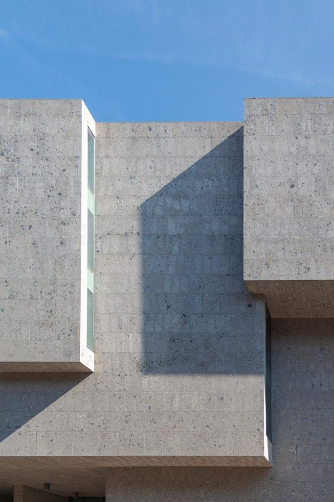 Detail of the facade, Grafton Architects, Bocconi University, Milan. Photo by ©Stefano Marongiu