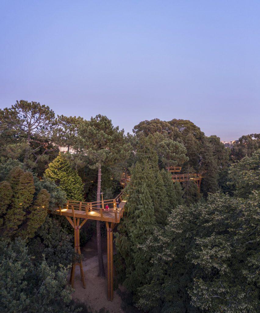 Serralves: Treetop Walk; architect: Carlos Castanheira, 2019. Photo by ©Fernando Guerra . FG+SG –Fotografia de Arquitectura