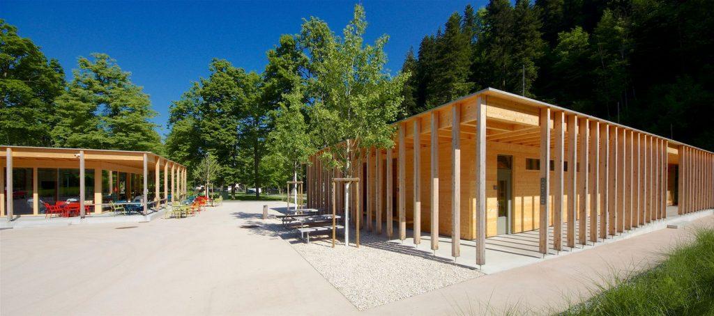 Austria, Vorarlberg & Bregenz: CAMPSITE ENZ DORNBIRN – JUST REOPENED (Johannes Kaufmann Architektur). Willem Bruijn ©onehundredyears.eu