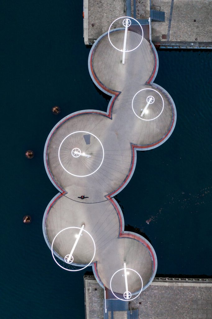 Kopenhagen: Circle bridge – Olafur Eliasson – Photo by: ©Astrid Maria Rasmussen