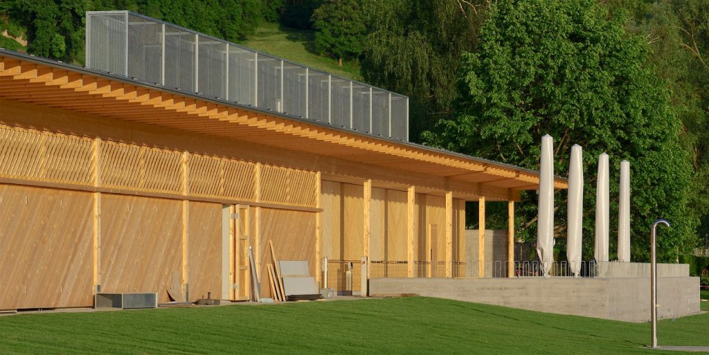 Austria, Vorarlberg & Bregenz: OPEN-AIR BATH LOCHAU – SPRING 2020 (Architekten Innauer Matt). Willem Bruijn ©onehundredyears.eu