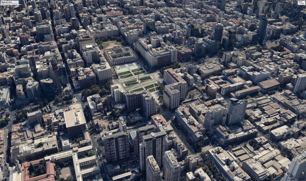 Santiago de Chile: Plaza de la Ciudadanía - Google Earth