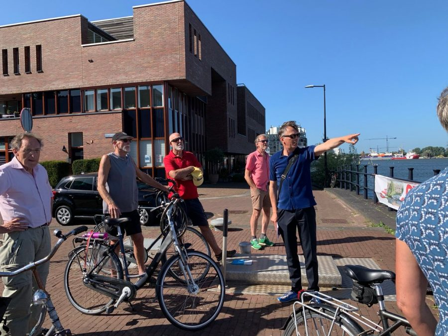 Paul Vlok in the Eastern Docklands during the Jump Across Het IJ tour.
