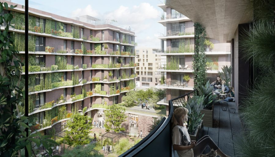 Moringa HafenCity Balkon. Photo by: ©kadawittfeldarchitektur rendertaxi