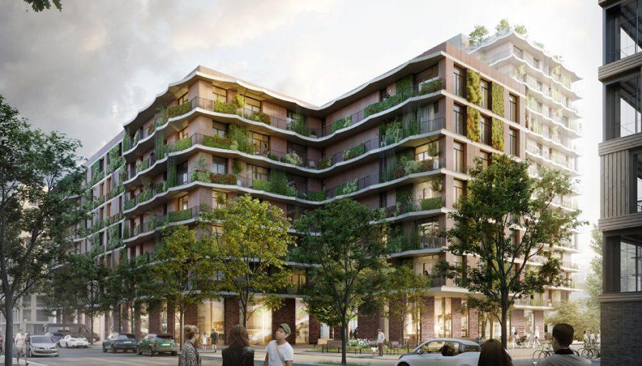 Moringa HafenCity Straßenseite. Photo by: ©kadawittfeldarchitektur rendertaxi