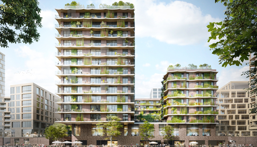 Moringa HafenCity vorne. Photo by: ©kadawittfeldarchitektur rendertaxi