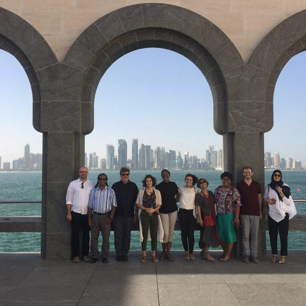 GAQATAR/Hannes Werner guiding at the Of Islamic Art, Doha/Qatar/Catar