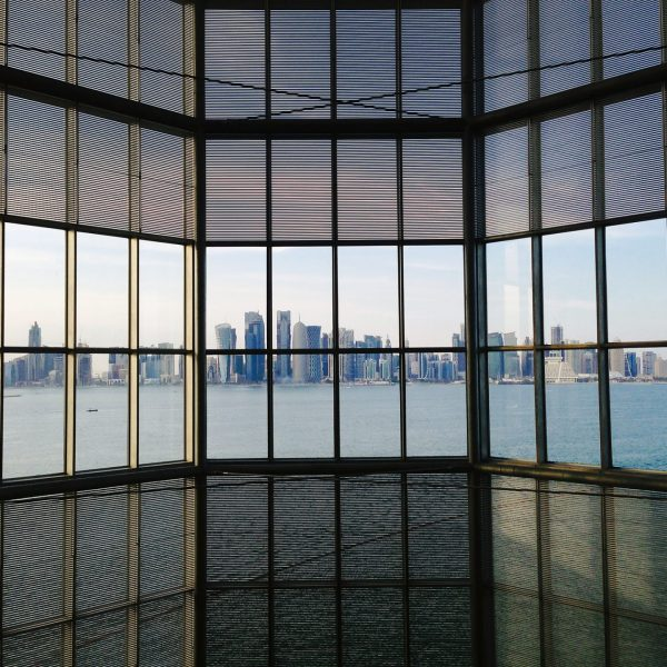 Doha skyline view from the MIA Museum Of Islamic Art, Doha/Qatar/Catar