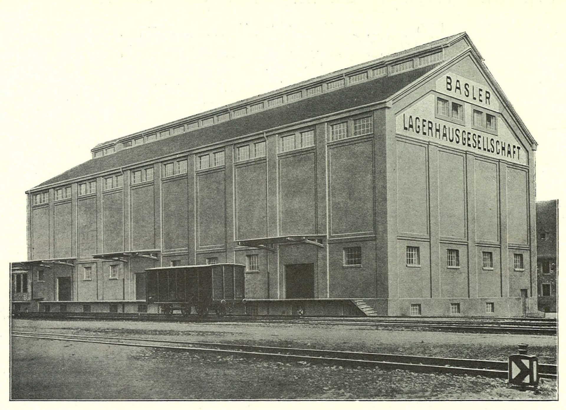 Historical picture from a brochure of Basler Lagerhausgesellschaft, 1912