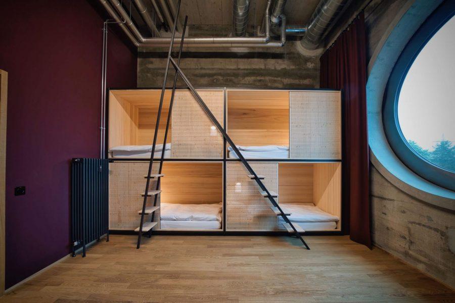 Hostel room in the first floor, run by Talent. Photo by: ©Silo by Talent - Erlenmatt