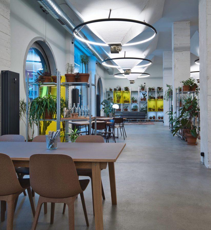 Inside of the restaurant Silo in the ground floor, run by Talent © Silo by Talent - Erlenmatt